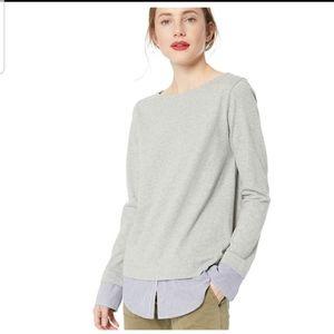 J Crew Mercantile Layered Sweatshirt